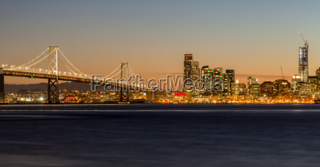 san francisco bay bridge und city