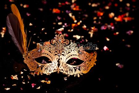 gold karneval maske