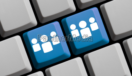 blue computer keyboard 2 groups