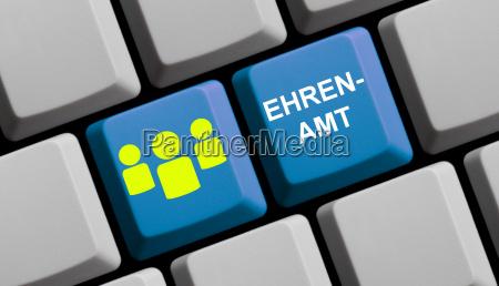 blaue computer tastatur ehrenamt