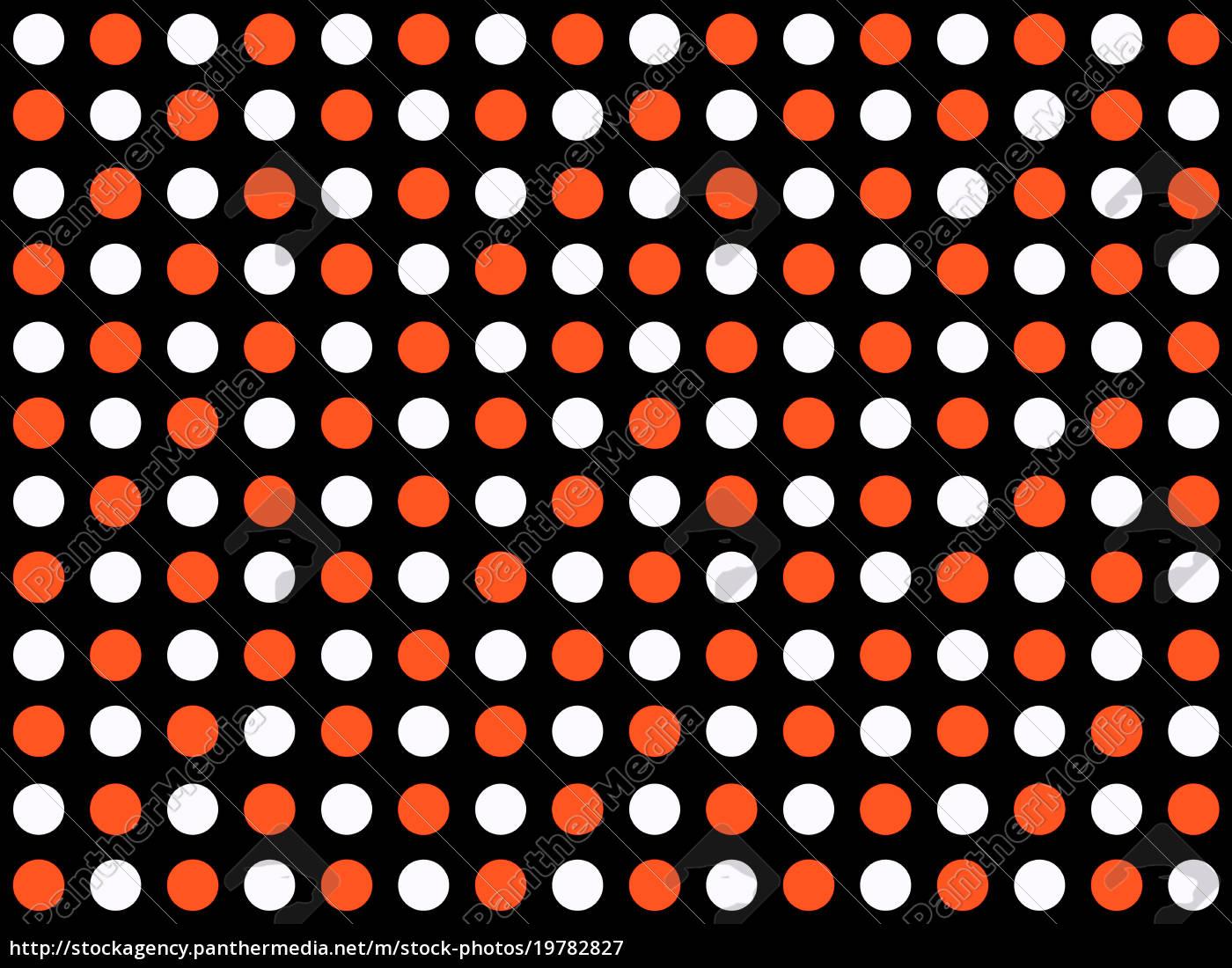 Nahtloses Punktemuster schwarz weiß rot - Lizenzfreies Bild ...
