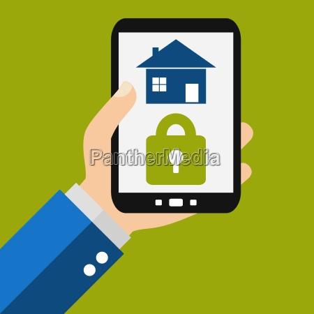 haus sichern mit dem smartphone