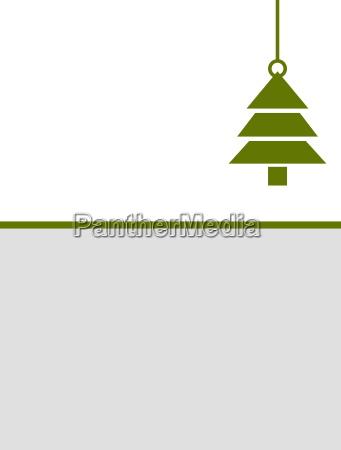 schlichte minimalistische weihnachtskarte gruen grau
