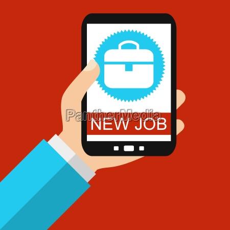 neuen job finden mit dem smartphone