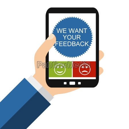 we want your feedback auf dem
