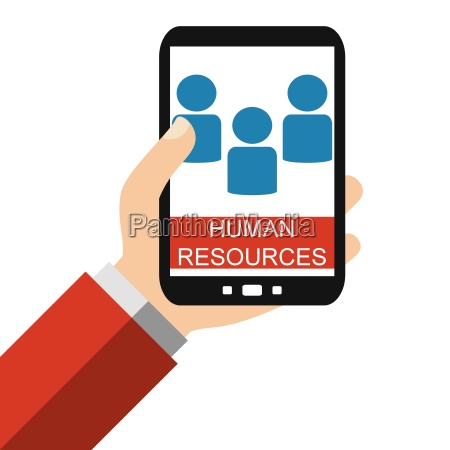 human resources on the smartphone