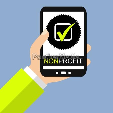 non profit auf dem smartphone