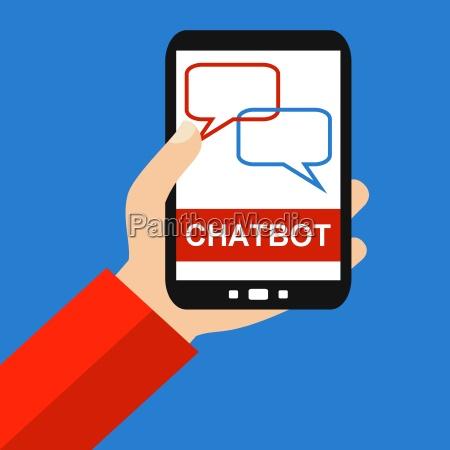chatbot auf dem smartphone