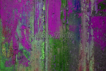 colorful wooden wall purple green