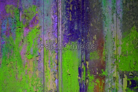 colorful wooden wall bright green blue