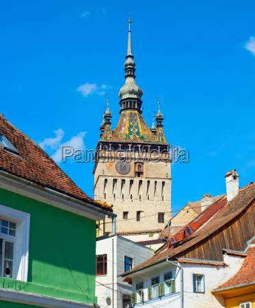 clock tower sighisoara romania