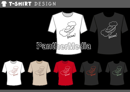t shirt design with pie in