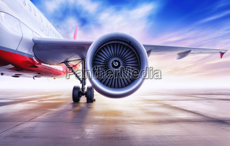 turbine of an airliner