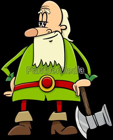 dwarf cartoon character