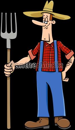 farmer cartoon character