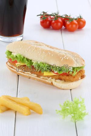 chickenburger chicken chicken burger hamburger cola