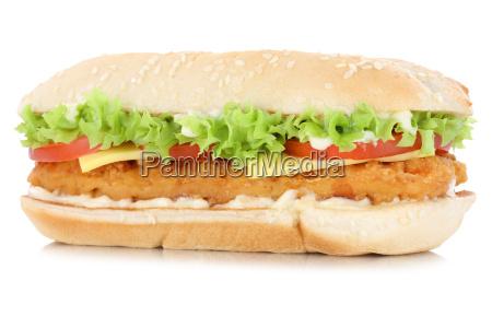 chickenburger chicken huehnchen burger kaese freisteller