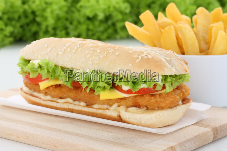 chickenburger chicken huehnchen burger hamburger mit