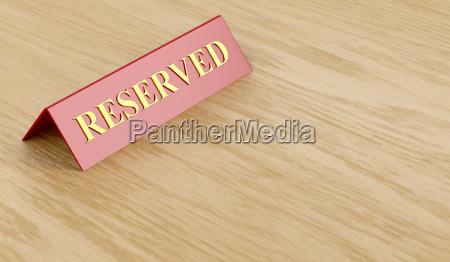 cafe restaurant reservat unterschreiben reserve reserviert
