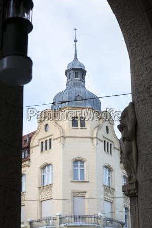 renoviertes historisches haus in goerlitz deutschland