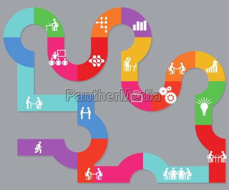 zusammenarbeit und planung in der firma