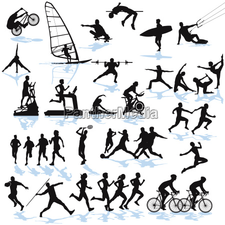 sport athletik illustration kollektion