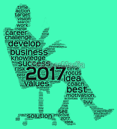 business 2017 word cloud concept in