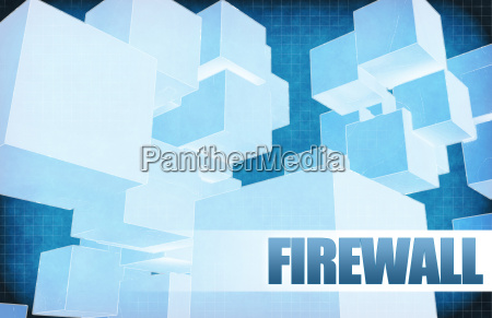 firewall on futuristic abstract