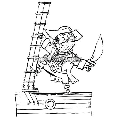 brave pirat an bord des schiffes