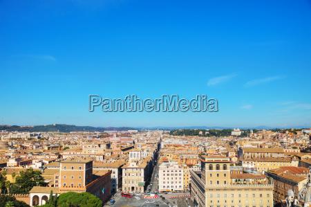 rom luftbild mit piazza venezia