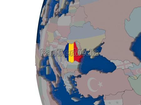 rumaenien mit nationalflagge