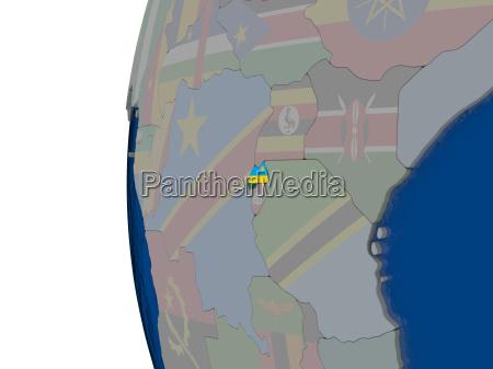 ruanda mit nationalflagge