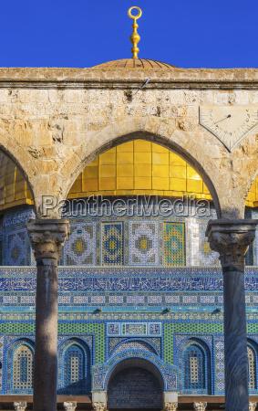 kuppel der felsen islamische moschee tempel