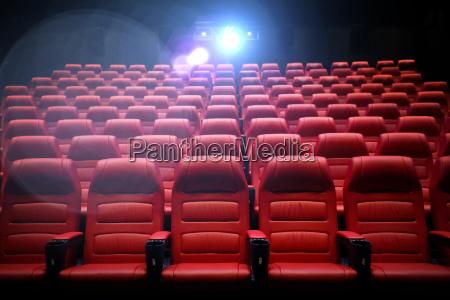 kino leeres auditorium mit sitzen