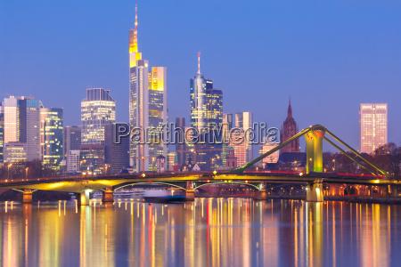 frankfurt am main am morgen deutschland