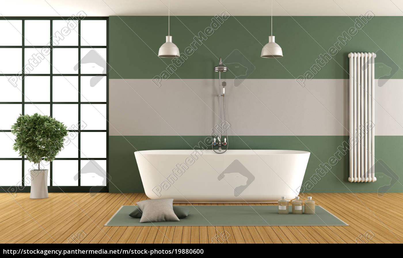 zeitgenössisches grünes und graues badezimmer   Lizenzfreies Foto ...