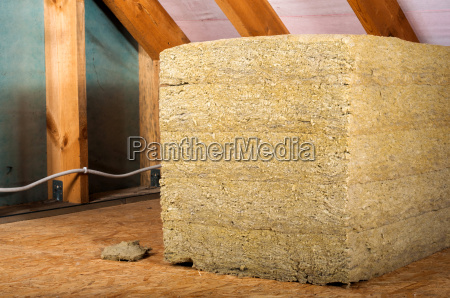 attic renovation insulation with rock wool