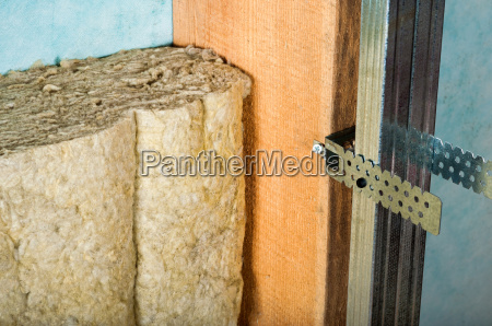home insulation rock wool wooden construction