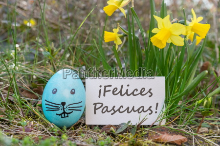 polish greeting card for easter with