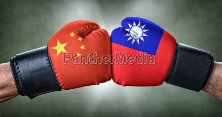 boxkampf, -, china, gegen, taiwan - 19883706