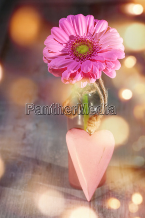 flower with a heart for mothers