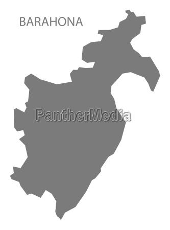 barahona dominikanische republik karte grau