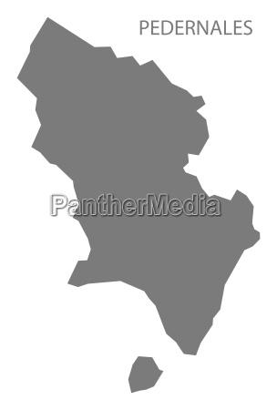 pedernales dominikanische republik karte grau