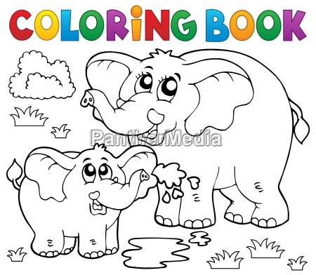 malbuch froehliche elefanten