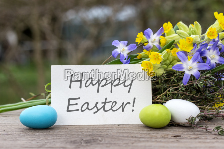 greeting card for easter with the