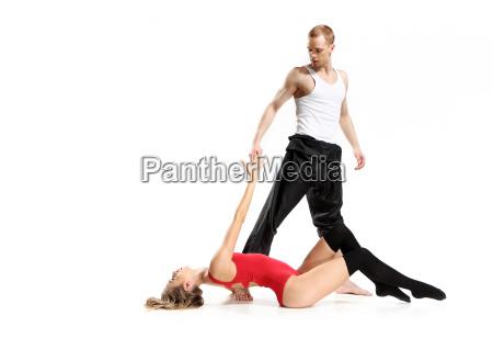 sinnlicher tanz von zwei menschen in