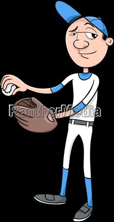 sport ball handschuh illustration spieler baseball