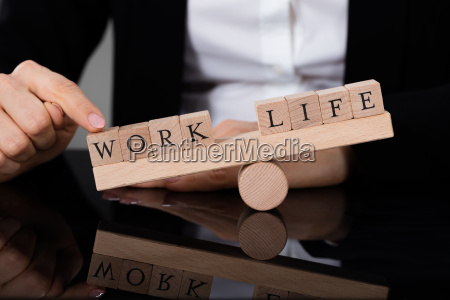 ein ungleichgewicht zwischen leben und arbeit