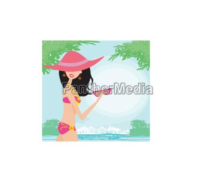 sexy beach girl in der naehe