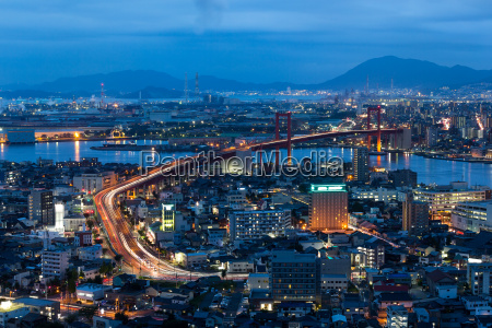 kitakyushu city at night